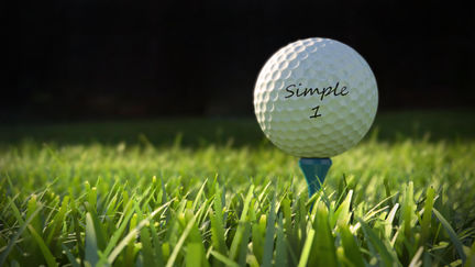 Golf ball Simple 1