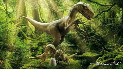 Velociraptors Family Portrait