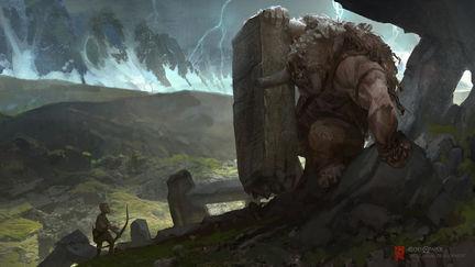 God of War Visual Development- Troll and boy