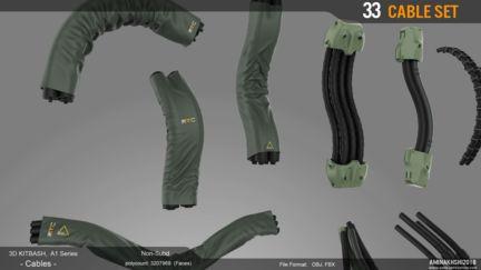 3D Kitbash - Cables