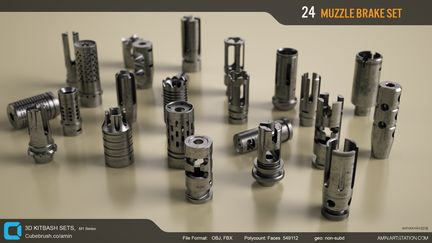 Amin akhshi muzzle brakes set 1 f8e934c2 t523