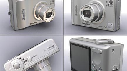 3d model of High detailed digital camera FinePix F10 Zoom