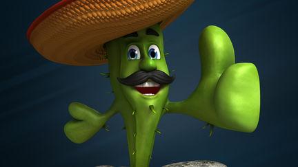 Cactus Cartoon Character