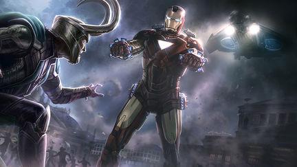 Avenger Keyframe- Iron Man vs. Loki