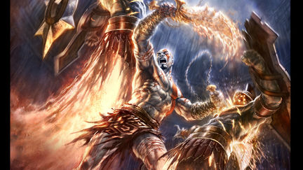 God of War: Chains of Olympus Marketing Illustration 02