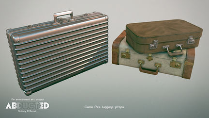 Abducted Suitcase Props