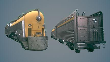 Art Deco inspired train