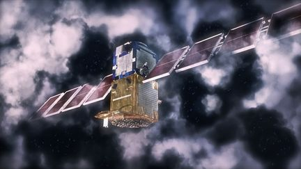 First maya model: Satellite