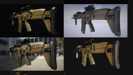 FN Scar Realtime Model