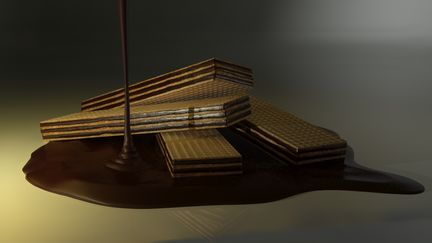 Wafer with chocolate