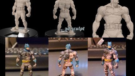 the dark knight miniature sculpt