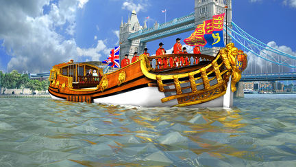 QDJ  Royal Barge Bow View