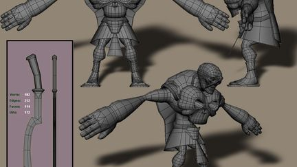 My first completed character model.