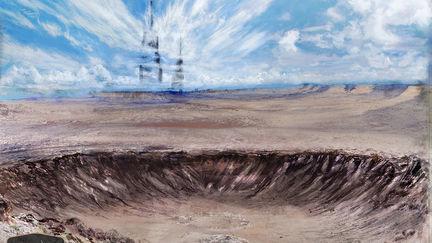 Desert Crater Environment Asset Concept