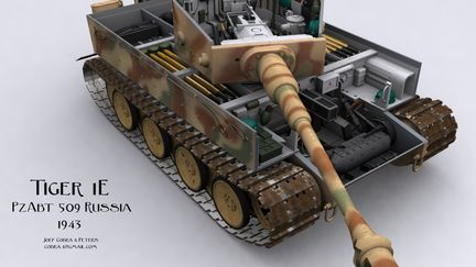 Tiger 1e Tank With Interior