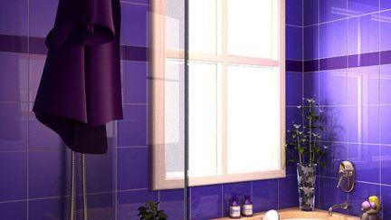 Soothing Purple Bathroom