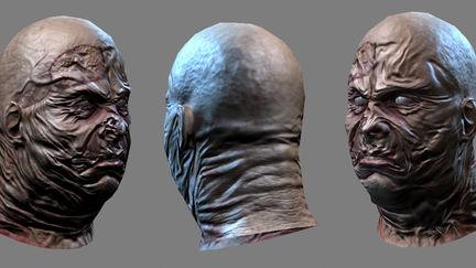 Worker zombie head