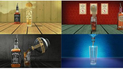 Stills taken from cocktail animations
