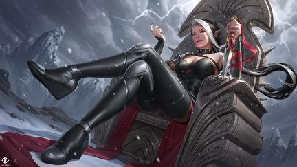 Adalia Throne Splash Illustration