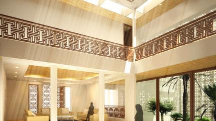 Qatari Eco-Villa - Hallway