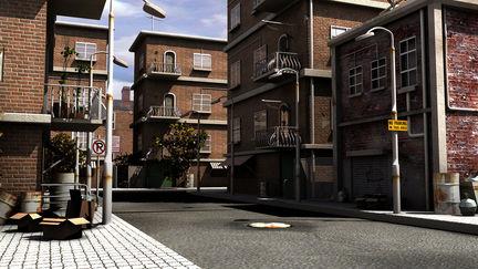 Exterior urban environment
