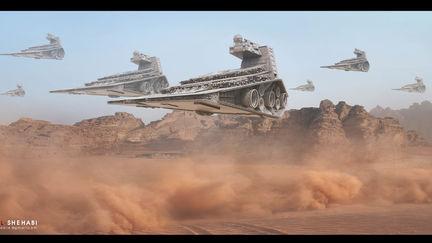 Desert Storm Inspired star wars Matte Painting