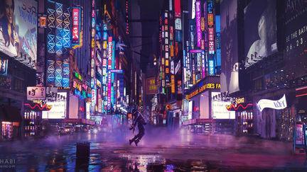 SCi Fi City Light Matte Painting