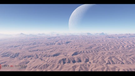 Terrain and Clouds Matte Painting
