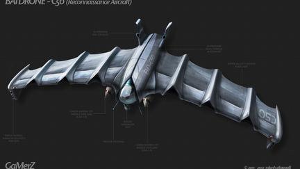 Bat Drone Recon Craft - Vehicle Concept