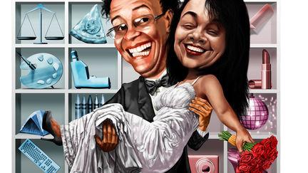 Shelf Caricature : Me & Ivone
