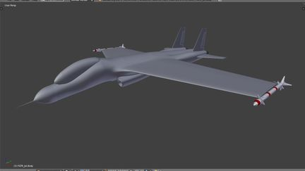 Immaginary/inspired jet figter