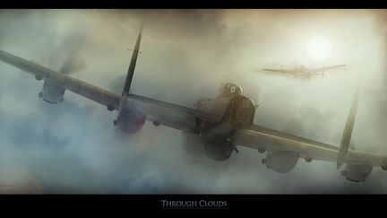 Avro Lancaster - Through Clouds