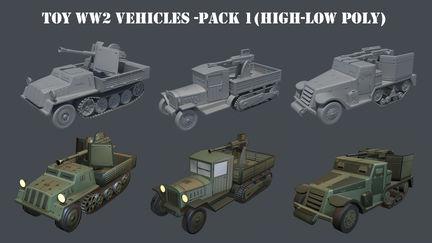Toy WW2 Vehicles Part I