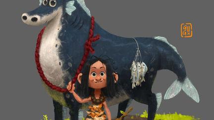 Sudsakorn and Black Dragon Horse