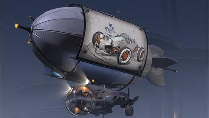 BlimpBoard Airship - view 1