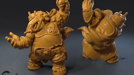 Immortal Ogre- post-apocalyptic miniature