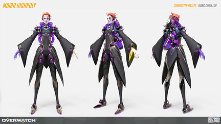 Overwatch Moira Highpoly