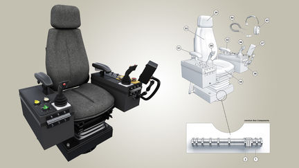 Operator's Chair Technical Illustration