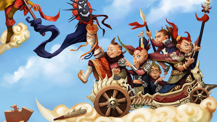 The Battle between Monkey King and the Red Boy