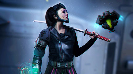 Futuristic Cyber Girl