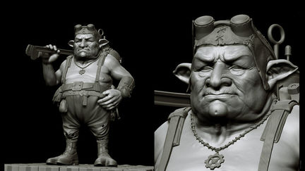 Goblin Mechanic - zbrush screencaptures