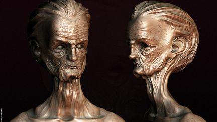 Oldman Head Statue