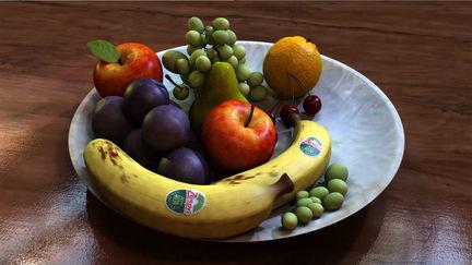 Bowl of Fruit WIP