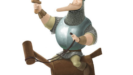 Soldier Riding Wooden Horse