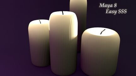 Maya Candles with SSS