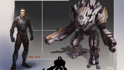 Concept Combat mech with his pilot # 2