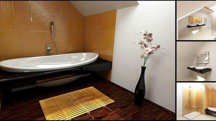 ORANGE Attic Bathroom