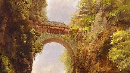 Oriental style landscape
