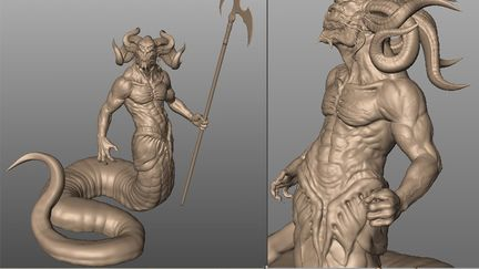 Demon Guard- sculpt