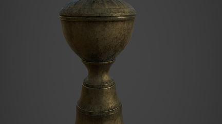 Old Metal Oil Lamp